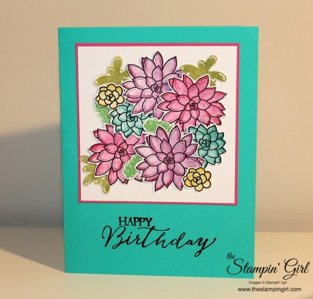 Succulent Card - BLOG