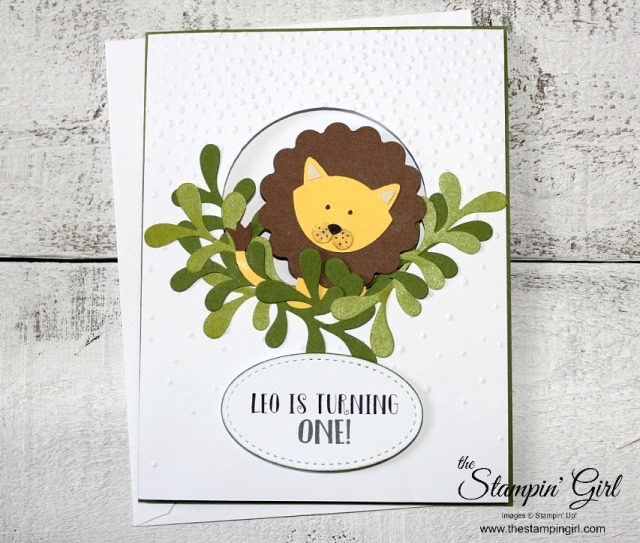 Leo Lion Card - Stamping Girl